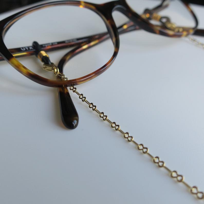 Chaîne de lunettes dorée modèle Artémis