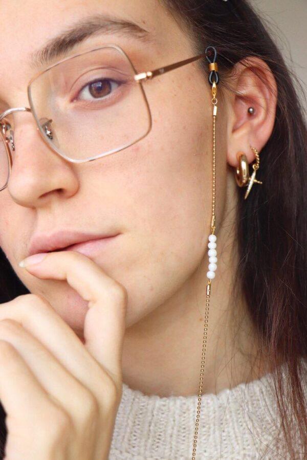 Chaîne de lunettes à perles La Petite Française