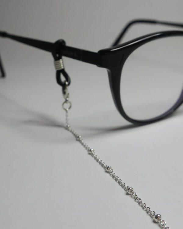 Chaine de lunettes Olympe - Bijou de lunettes argenté