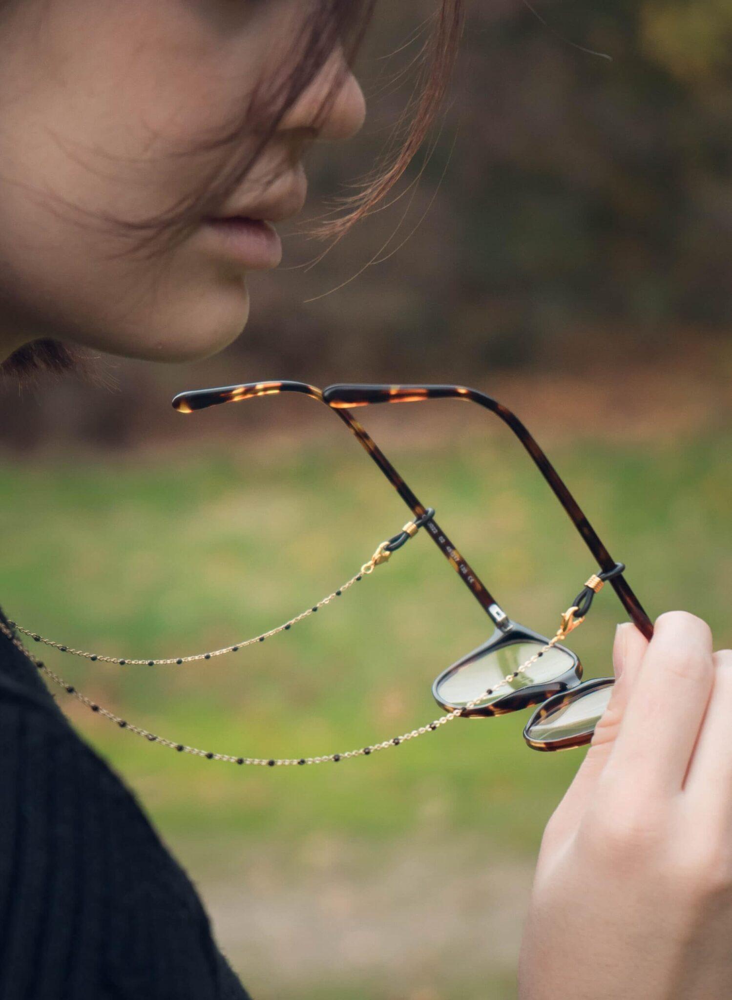 chaine de lunettes - bijou de lunettes - modèle Rome