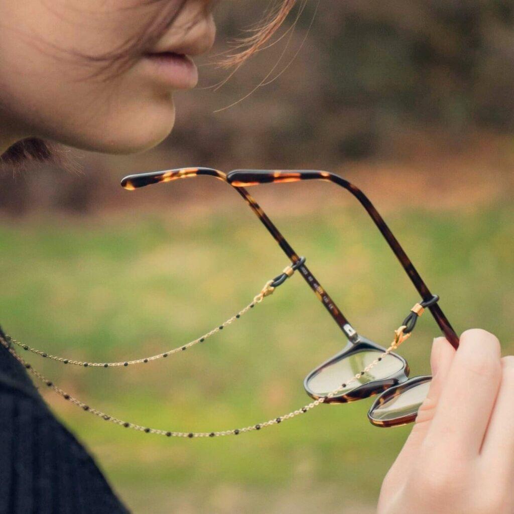 chaine de lunettes cordon de lunettes bijou de lunettes Atelier Kat H