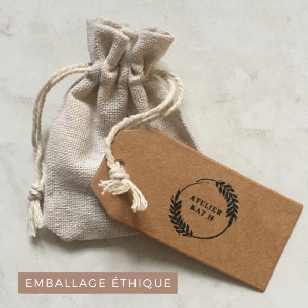 packaging écologique pochon en lin atelier kat h