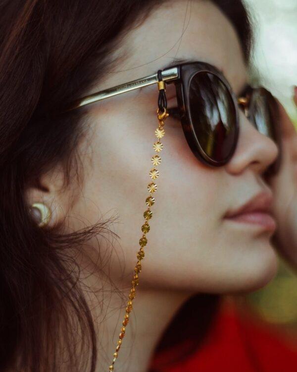 Chaine de lunettes dorée
