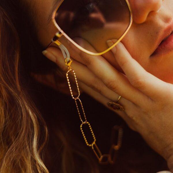 Cordon de lunettes de soleil bijou pour femme
