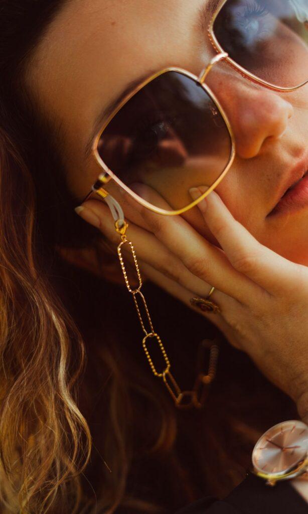 Chaine bijou pour lunettes de soleil