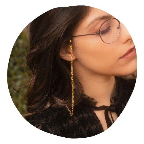 Chaines de lunettes pour femmes par Atelier Kat H